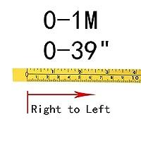 Tスロットアルミ押出プロファイルConnect Par 測定基準とインチの自己接着測定テープ鋼のマイタートラック測定テープマイターのこぎりスケールT-TrackルーターテーブルバンドのSAW木工ツール (Color : 0-1M)