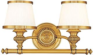 Hudson Valley Lighting 2002-FB Two Light Bath Bracket from The Milton Collection, 2, Flemish Brass