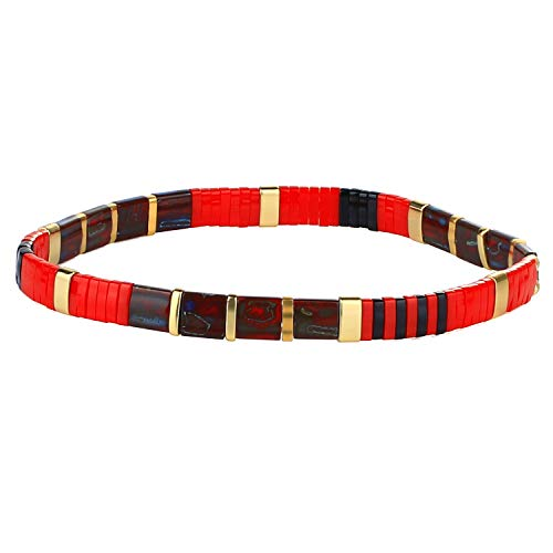 KANYEE Bracelets élastique pour Femme Bracelets D'amitié Bracelets Perlés Tila Bracelets Breloques Mode De Manchette pour Cadeaux d'anniversaire – 8H