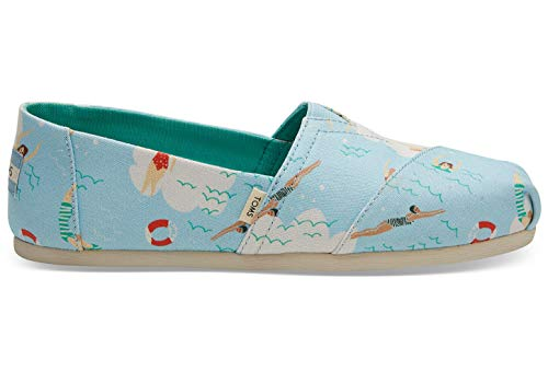 TOMS Blue Glow Swimmers Women's Classics (Size: 6.5)