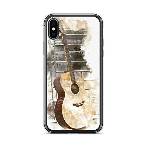 blitzversand Handyhülle Metal PINK kompatibel für LG G6 Gitarre stehend Schutz Hülle Case Bumper transparent rund um Schutz Cartoon M15