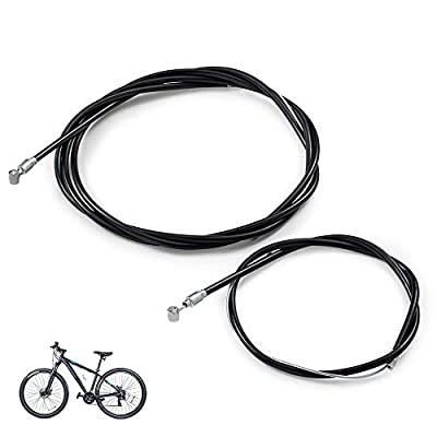 Deapher 1 Pair Bike Brake Cable, Front and Rear Brake Cable for Mountain Bike, Bike Brake Wire Set for Road Bike and Common Bike (BLACK1)
