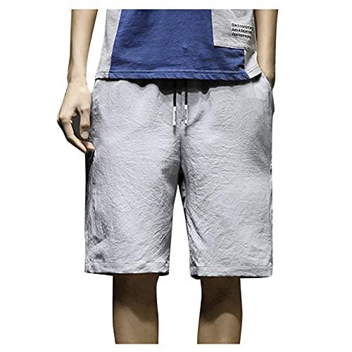 GEU - Pantalón corto de deporte para hombre, estilo casual, pantalón corto impreso con bolsillo grande