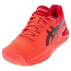 ASICS Women's Gel-Resolution 8 Tokyo Tennis Shoes, 8.5, Sunrise RED/Eclipse Black