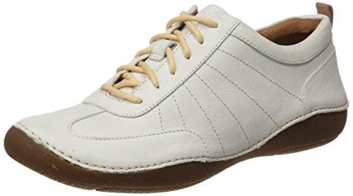 Clarks Damen Autumn Garden Sneakers, Weiß (White Nubuck), 39.5 EU