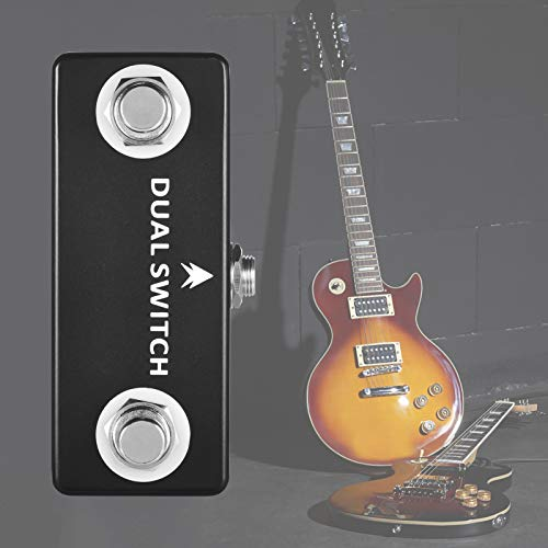 Muslady MOSKY DUAL SWITCH pie doble Interruptor de pedal Full Metal Shell