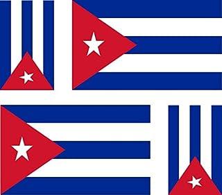 Akacha - 4 Adesivi per Auto e Moto, Motivo: Bandiera di Cuba