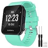 GVFM - Correa de repuesto compatible con Garmin Forerunner 35, de silicona suave para reloj inteligente, ajuste de muñeca de 130 a 230mm, 1- Té verde