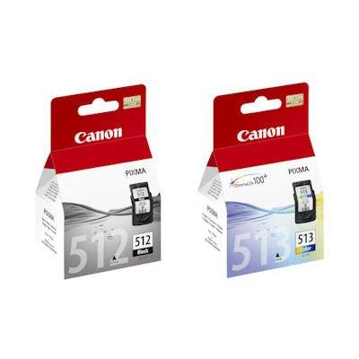 Cartucce originali Canon PG512 (nera) e CL513 (colorata), cartucce per stampanti Pixma MX330