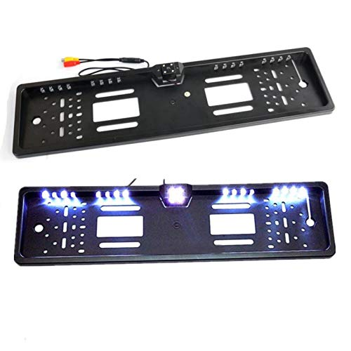 Europe License Plate Frame Car Rear View Camera Waterproof Night Vision Reverse Backup Camera Light Parking System