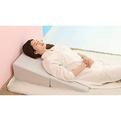 PREDUXYOW Orthopädisches Bett Keilkissen, Falten Matratzenkeil, Hilft bei saurem Reflux, nach Operationen, Schnarchen und Rückenschmerzen (82 x 82 x 25 cm)