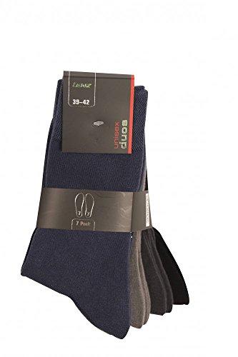 Lenz Unisex Socken Duos 7 Paar Nummeriert 1-7, Gemischte Farben, 35-38, 2620