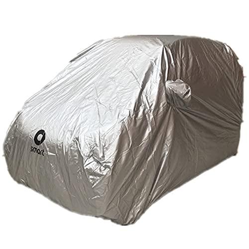 Autoabdeckung Abdeckplane Vollgarage Plane FüR Smart Fortwo Wasserdicht SchutzhüLle Abdeckung HüLle Sonnenschutz Staubdicht Car Cover