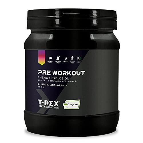 ENERGY EXPLOSION Pre Workout 250gr. Creapure®- Kyowa Quality® Con BCAA, Beta Alanina, Creatina, L-Citrullina, L-Arginina, L-Glutammina, L-Lisina, L-Ca