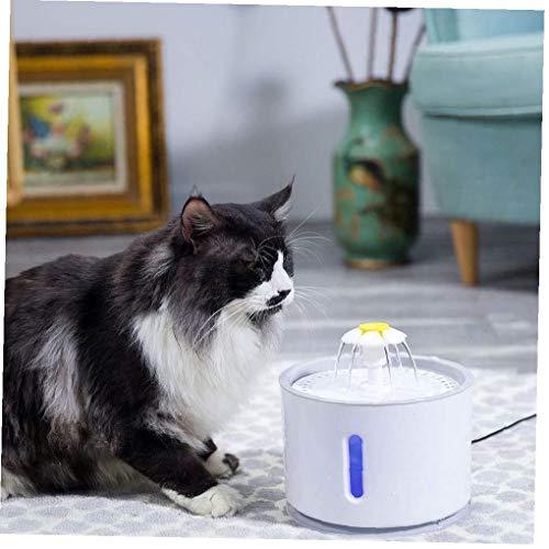 IUwnHceE 1pc De Luz Led para Mascotas Fuente Gato Dispensador De Agua Eléctrico Automático Cuenco De Agua para El Hogar (Gris)