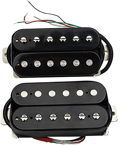 Guitarra Humbucker Pickup Kit-Piezas De Repuesto para Cuello Y Puente Pastillas Duales para Stratocaster Guitarras Eléctricas Pastillas de Guitarra