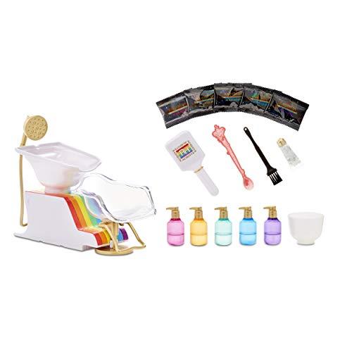 Rainbow Surprise Rainbow High Salon Playset with Rainbow of DIY Washable Hair Color Foam for Kids