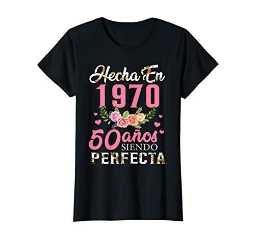 Mujer Regalo de Cumpleaños 50 Años, Hecha En 1970 Camiseta
