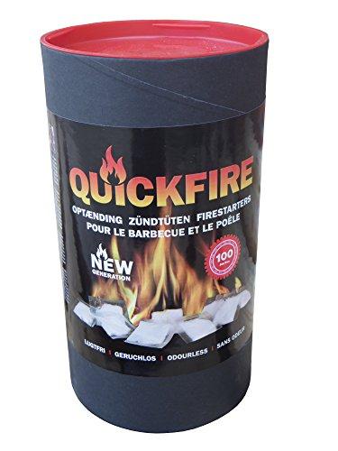 Anzünder QuickFire für Kamin Ofen Grill 300 St. Paraffin Tüten