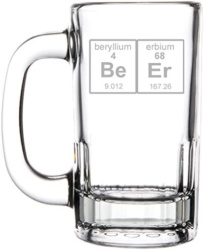 12oz Beer Mug Stein Glass Geek Table Nerd Max 45% OFF Large discharge sale Periodic