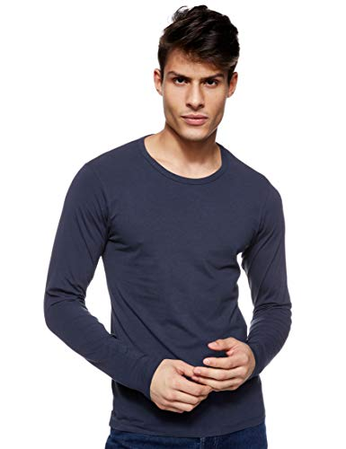 JACK & JONES Herren Langarmshirt 12059220 Basic O-Neck Tee, Gr. 52 (L), Blau (NAVY BLUE)
