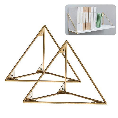 L-KCBTY Metal Soporte Triangular - 2Piezas Soportes para Estantes De Pared-Buena Calidad, para Dormitorio, Baño, Cocina Flotante Estante para Servicio Pesado-15cm,20cm,25cm
