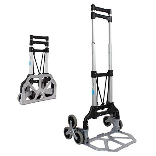 TrutzHolm® Aluminium Treppensackkarre klappbar 70 kg Treppensteiger Transportkarre Stapelkarre Treppen-Sackkarre