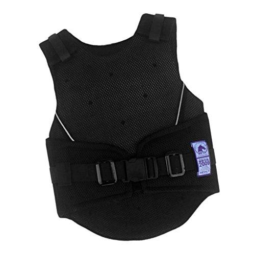 MagiDeal Gilet d'Équitation Veste Protection pour Enfants Protecteur de Corps Vest Unisexe - Noir, M