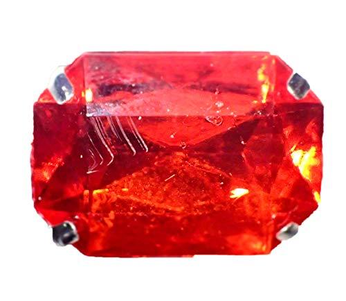 Frames muy Jolie - Anillo de estilo antiguo, plateado y piedra roja, ref: 48092