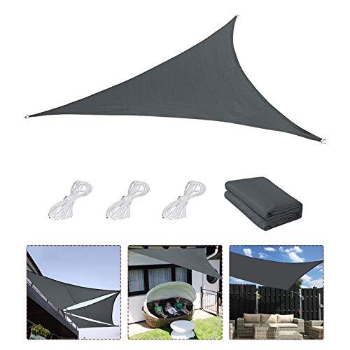 Sonnensegel,Sonnenschutz Sonnendach Windschutz mit UV Schutz wetterbeständig Segel Schatten UV-Schutz sonnensegel Dreieckig für Garten Outdoor Terrasse Balkon Lawn 3×3×3M (M)