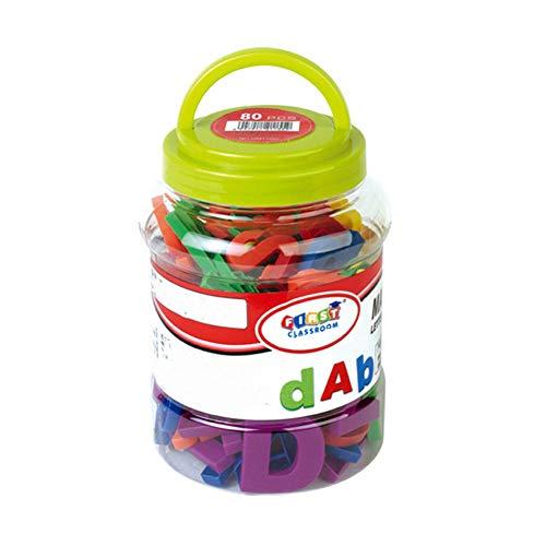 mi ji Letras magnticas Fuertes y nmeros Juguetes educativos no txicos del Alfabeto Imanes Coloridos del refrigerador 80 PCS / Set