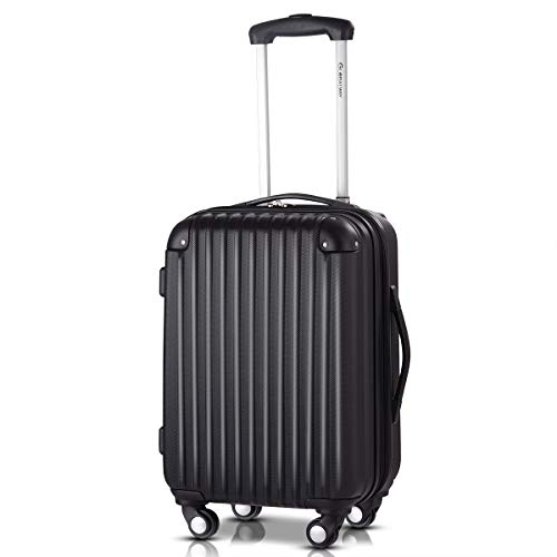 Goplus 20' ABS Carry On Luggage Expandable Hardside Travel Bag Trolley Rolling Suitcase GLOBALWAY (Black)