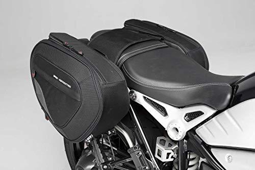 SW-Motech Blaze H Jeu de sacoches de Selle Noir/Gris pour BMW R NineT (14-), Pure/GS (16-)