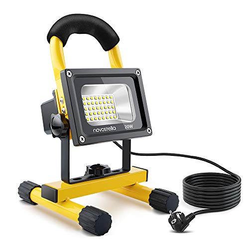 NOVOSTELLA 20W 1600LM Foco Proyector LED con 5M Cable, LED