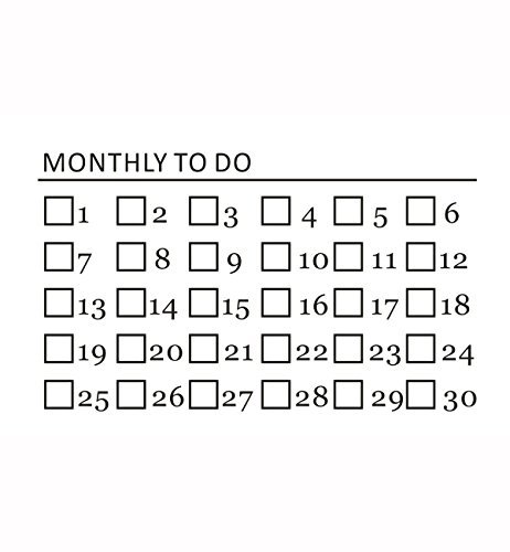 Fantasy Life DIY Daily Planner Monthly Planner Birthday Reminder Weekly Planning Pad Student Planner To-do Pad Self Inking Rubber Stamps Monthly To Do