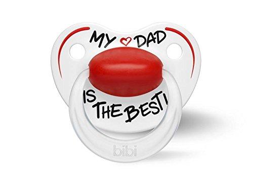 BIBI BI113555 Happiness Schnuller Nuggi (Mein Vater ist der Beste,6-16 Monate)