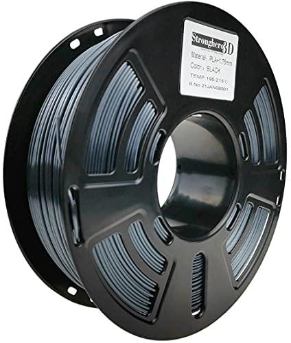 Stronghero3D Desktop FDM 3D Printer Filament PLA Black 1.75 mm 1 kg (2.2 lbs) Dimension Accuracy of +/- 0.05 mm for Ender3 Cr10
