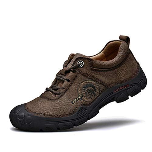 Magnifier Zapatos de Senderismo Impermeables para Hombre, Antideslizantes al Aire Libre, Ligeros, con Cordones, Botas de Tobillo, mochilero, Senderismo, montañismo, Zapatos para senderos,C,44