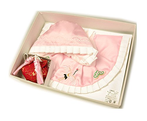 お宮参り小物セット ピンク帽子、スタイ(よだれかけ)、お守りセット 女の子用