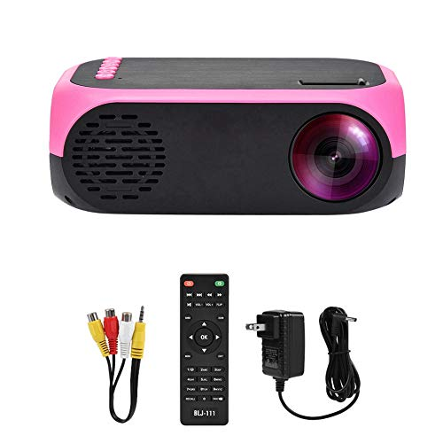 Home Theater Projector with Screen, LED Projector Mini Portable Handheld Projector HD 1080P Home Theater USB/SD/HDMI/AV(US Plug(110v-240v))