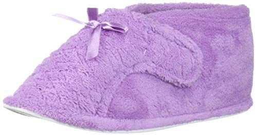 MUK LUKS Women's Micro Chenille Front Flap Adjustable Boot Slipper, Lavender, Medium M US