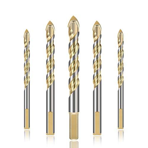 HWW-Drills, 5mm Spade Girar la Cabeza de dirll bit Set for la baldosa cerámica de Cristal Pared de ladrillo de Madera de aleación Dura Herramienta for Trabajar la Madera Herramientas del Carpintero