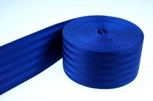 50m Sicherheitsgurtband marineblau aus Polyamid, 38mm breit, bis 1,5t belastbar