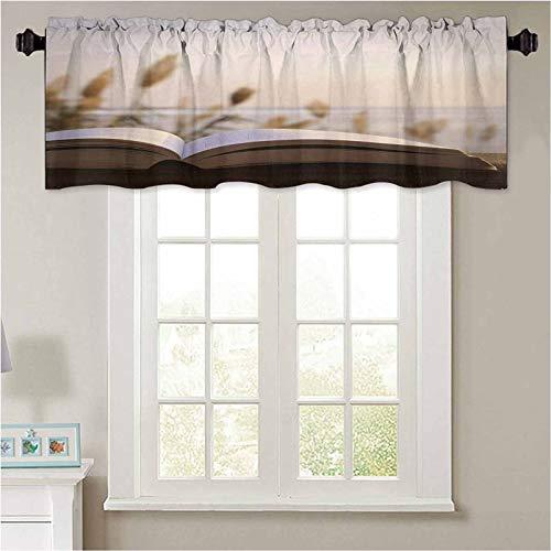 YUAZHOQI - Cenefas de ventana abiertas, libro 1 panel de 52 x 45 cm, aislamiento térmico para baño