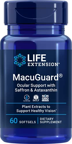 Life Extension MacuGuard Ocular Support with Saffron & Astaxanthin, No...