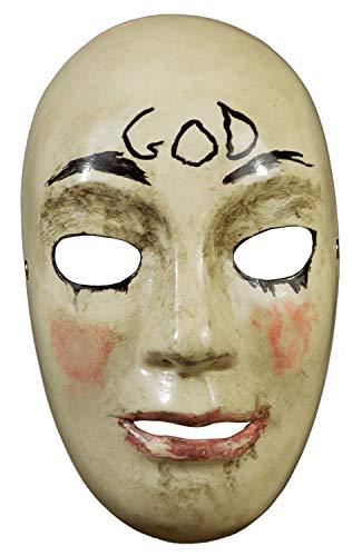 Horror-Maske für Erwachsene, The Purge Anarchy God Injection, für Halloween oder Cosplay als Kostüm oder Outfit, Zubehör