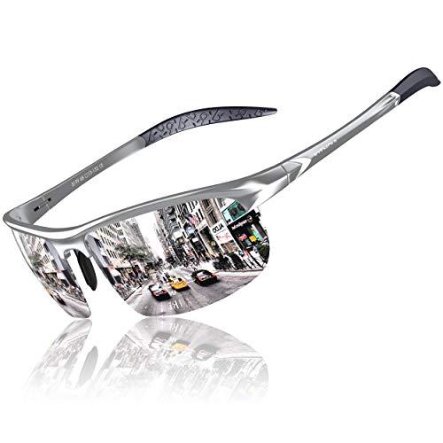 KITHDIA Herren Sport Polarisierte Sonnenbrille Aluminium Magnesium Rahmen S8199