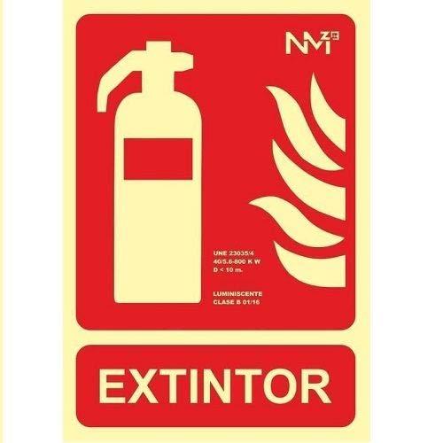 CABLEPELADO Placa extintor homologada 21x30 cm Rojo