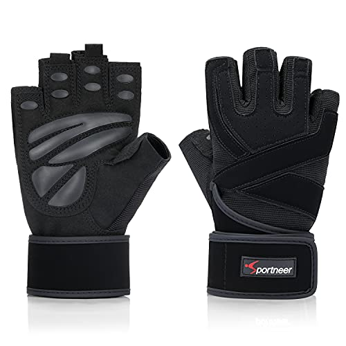 Sportneer Fitness Handschuhe, Trainingshandschuhe Gewichtheben Handschuhe für Bodybuilding, Klimmzug Cross Training und Kraftsport