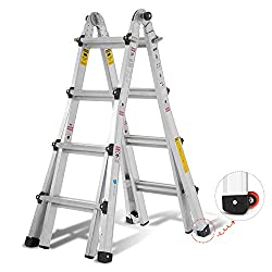 OrienTools Aluminum Multi-Purpose Ladder
